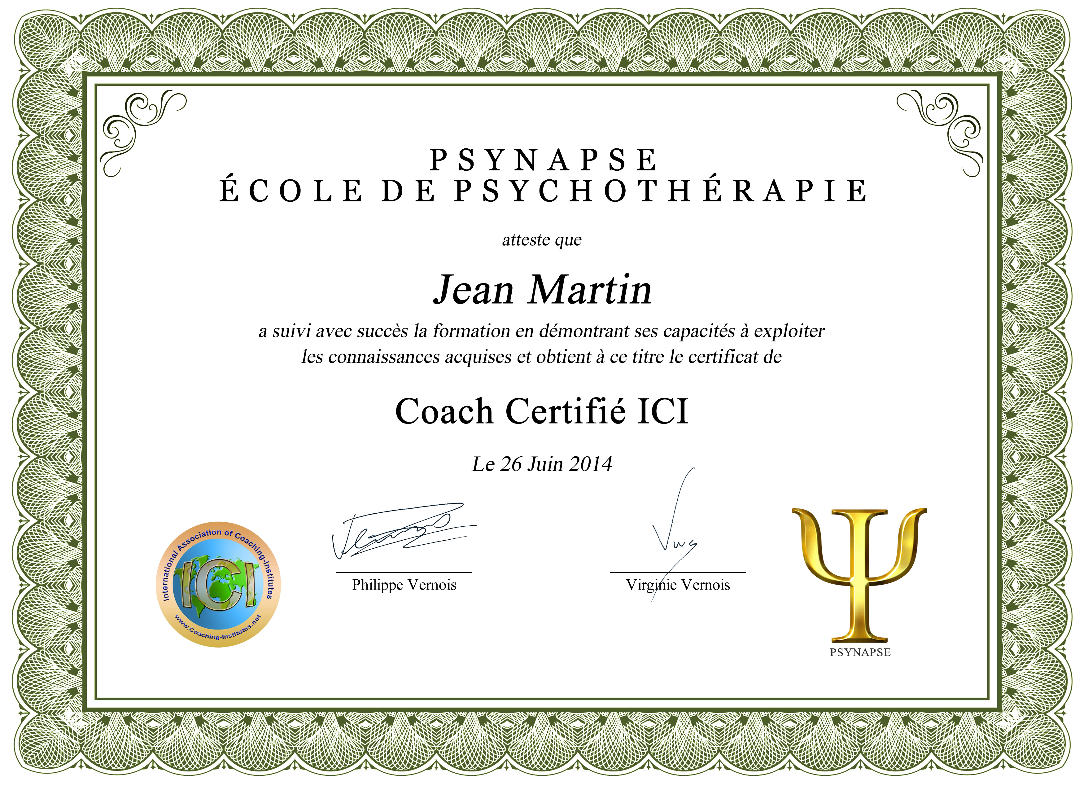 Diplome Formation Certification Coach