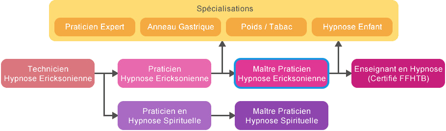 Schéma Formation Maître Praticien Hypnose Tunisie