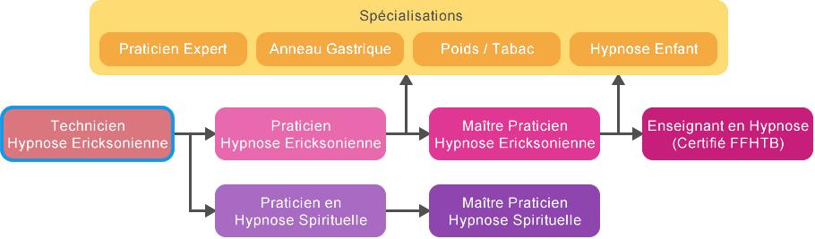 Schema Cursus   Formation Technicien Hypnose Tunisie